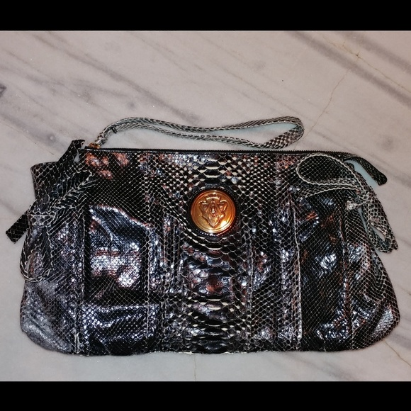 c547619fd Gucci Handbags - GUCCI Python Hysteria Large Clutch- Preowned